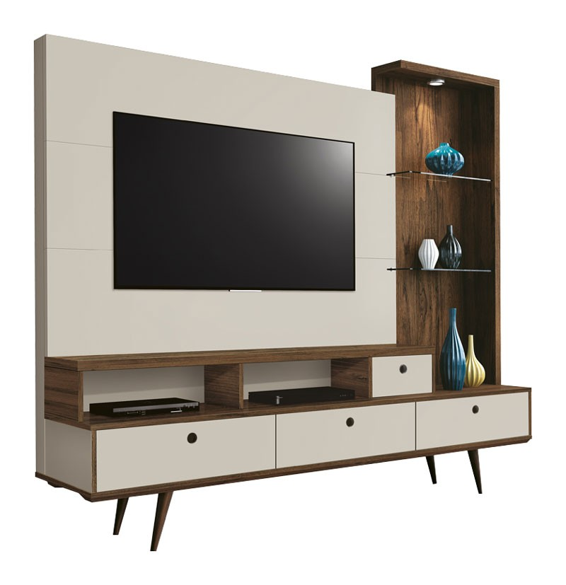 Home Theater Tifany Rovere Italiano com Off White - Edn Móveis