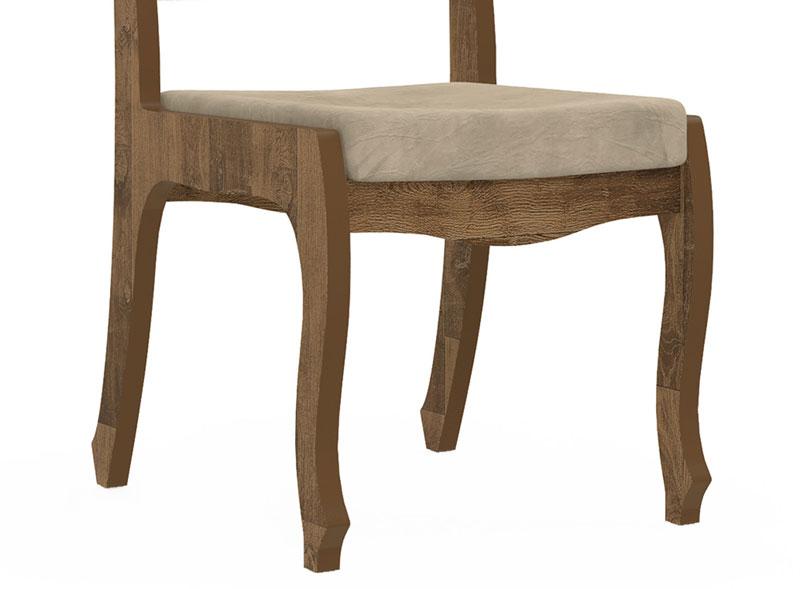 Jogo 2 Cadeiras Ônix II Amadeirado com Suede Bege - RV Móveis