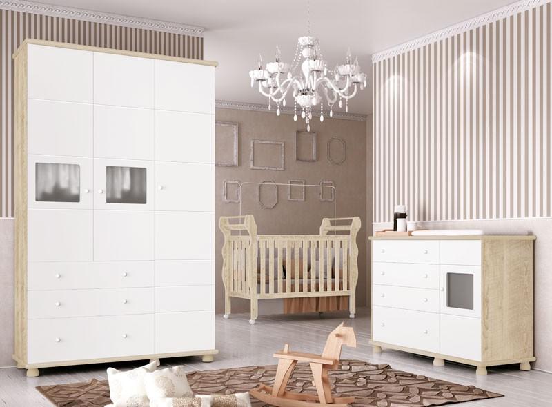 Jogo de Quarto para Bebê Completo Moana Branco com Niagara - Imaza Móveis