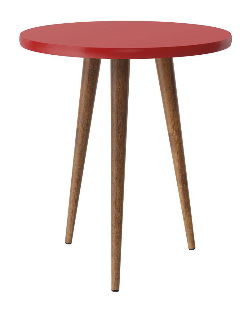 Mesa de Apoio Legs Vermelho - Patrimar Moveis