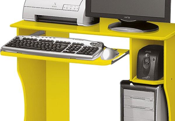 Mesa para Computador Livia Amarelo - Edn Móveis