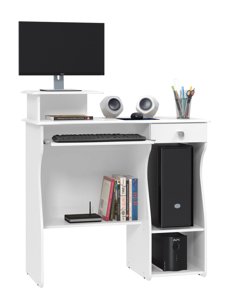 Mesa para Computador Marina Branco - Patrimar Móveis