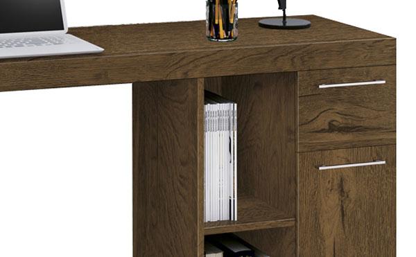 Mesa para Computador Office Doris Nogal Rústico - Edn Móveis