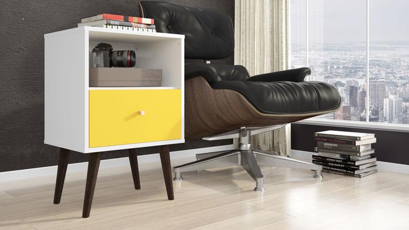 Modulo 450 MB 2014 Branco com Amarelo - Moveis Bechara