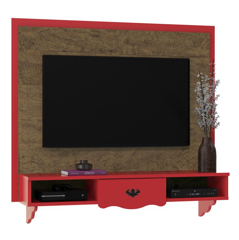 Painel para Tv Athenas Demolição com Vermelho - Patrimar Móveis