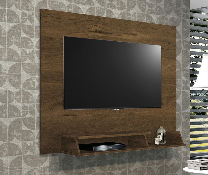 Painel para Tv Atrative Nogal Rústico - Edn Móveis