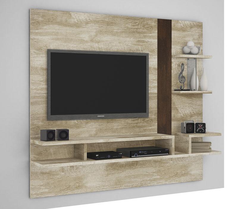 Painel para Tv Cross Rovere com Noce - Lukaliam Móveis