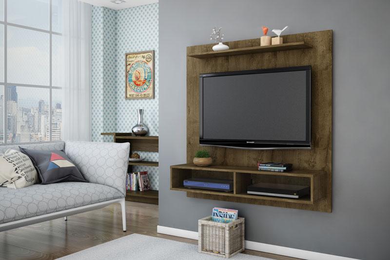 Painel para Tv Gama Madeira Rústica - Móveis Bechara