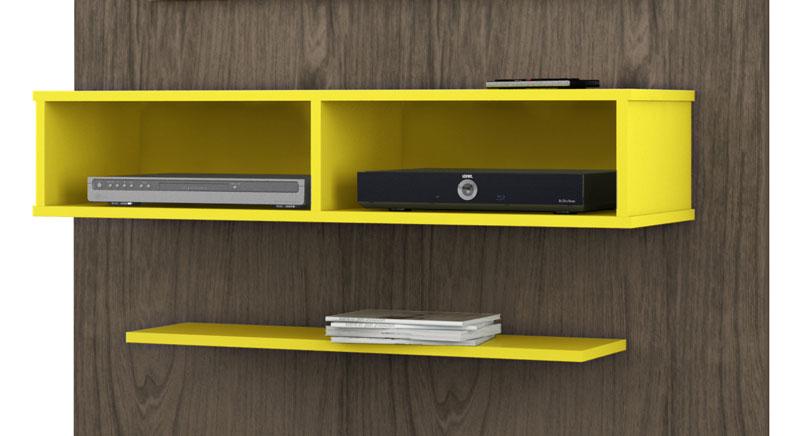 Painel para Tv JB 5001 Teka com Amarelo - JB Bechara