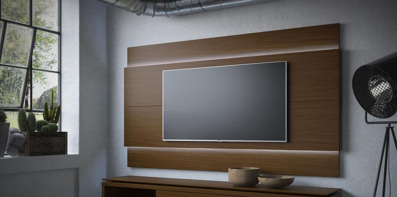 Painel para TV Lincoln 2.2 Castanho - Móveis Província