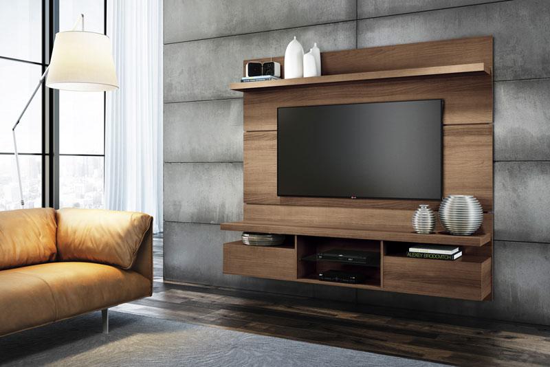 Painel para TV Livin 1.8 Macchiato Texture Alto Relevo HB Moveis