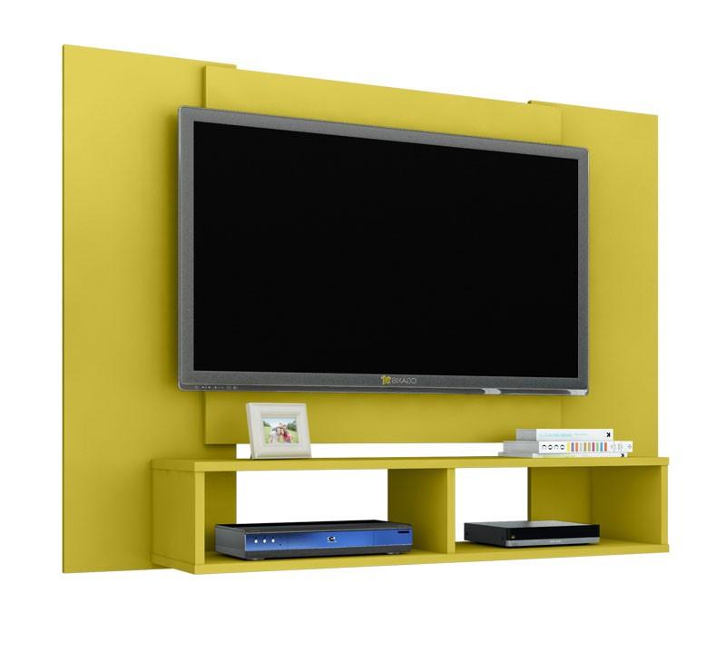 Painel para Tv Navi Amarelo - Móveis Bechara