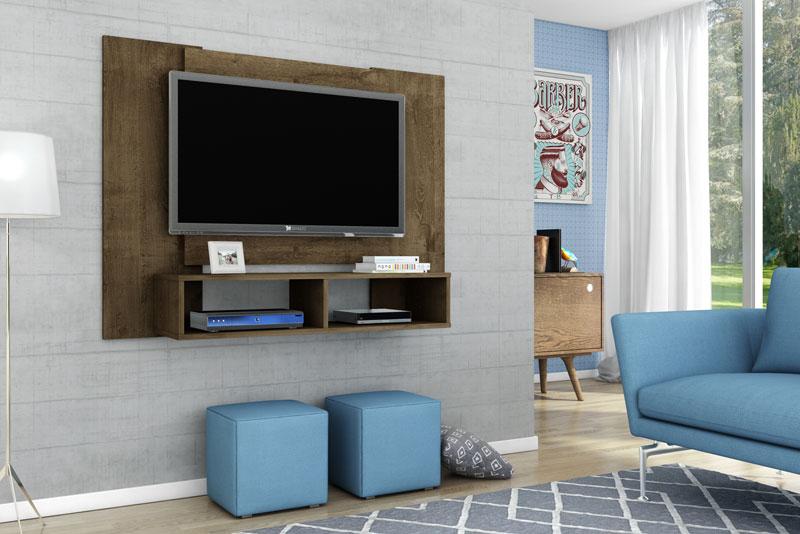 Painel para Tv Navi Madeira Rústica - Móveis Bechara