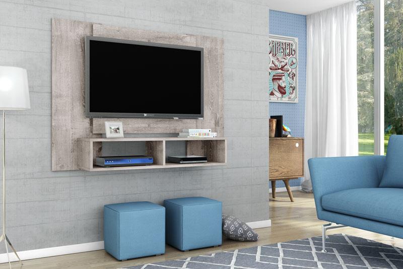 Painel para Tv Navi Vanilla Rústico - Móveis Bechara