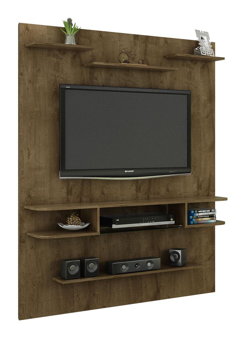 Painel para Tv Sigma Madeira Rústica - Móveis Bechara