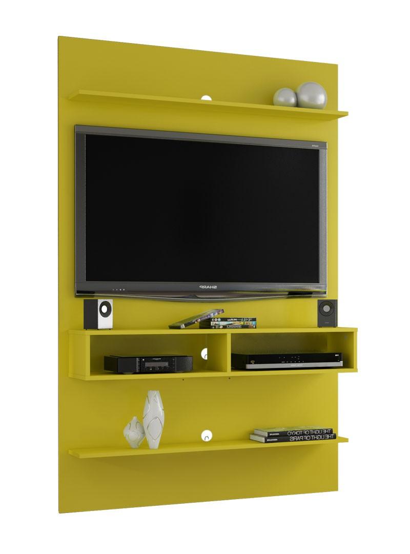 Painel para Tv Vega Amarelo - Móveis Bechara