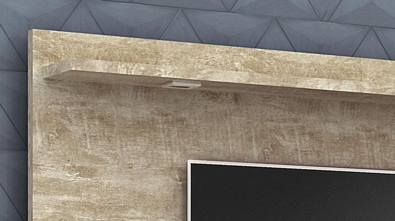 Painel para Tv Venus Rovere New - Lukaliam Moveis