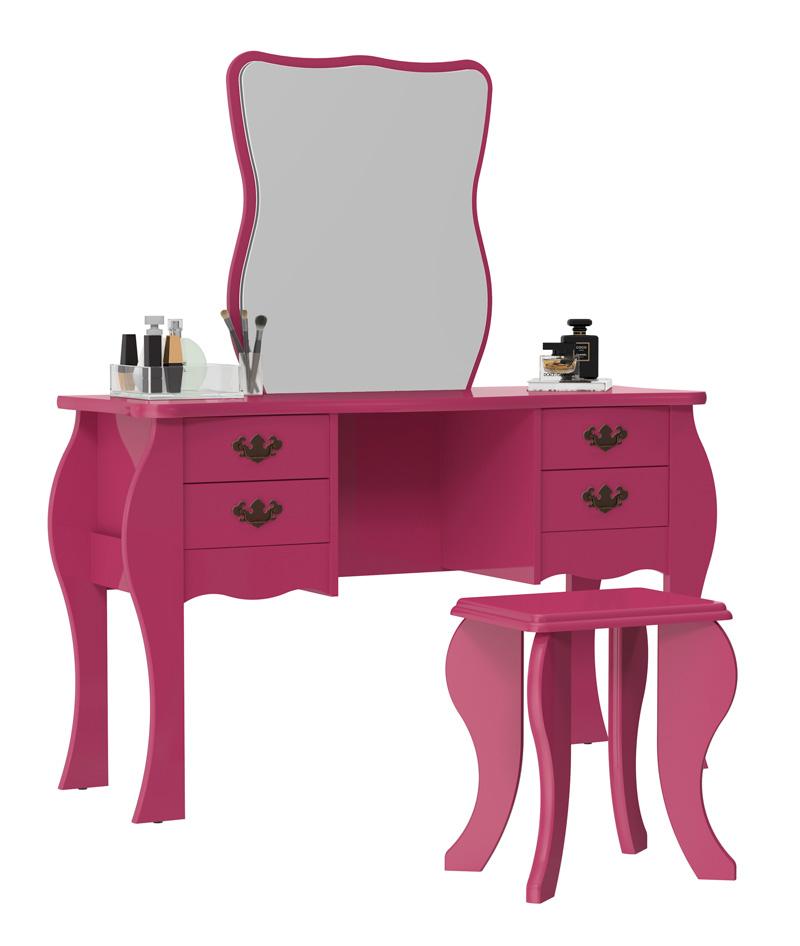 Penteadeira Duda Pink - Patrimar Móveis
