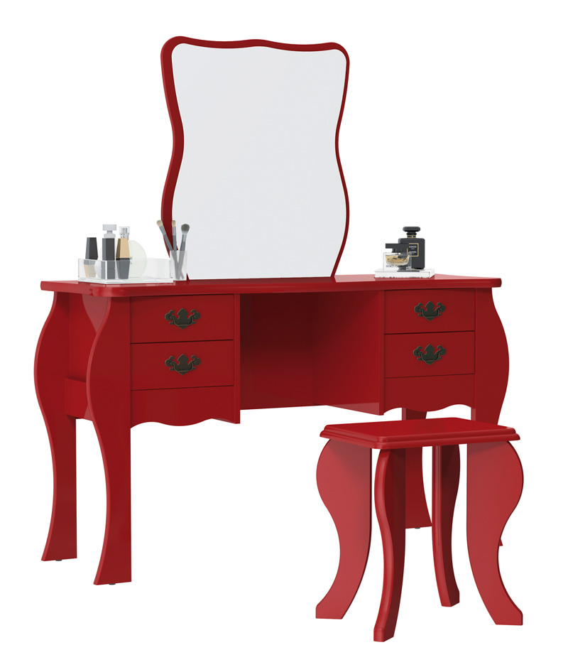 Penteadeira Duda Vermelho - Patrimar Móveis
