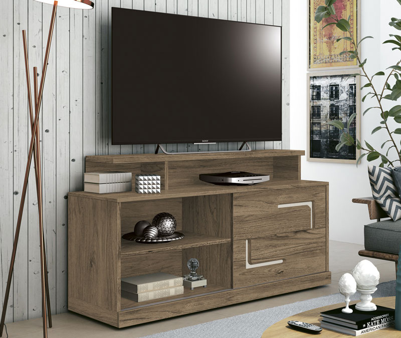 Rack para Tv Fiore Freijo com Off White - Edn Móveis