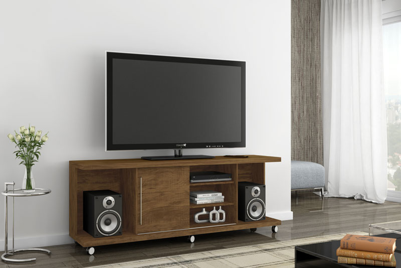 Rack para Tv Grafite Gold Wood - Germai Móveis