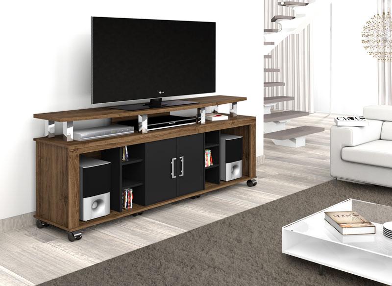 Rack para Tv Mega New Canela com Preto - Imcal