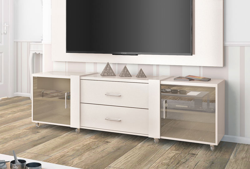 Rack para Tv Refletto Off White - Imcal