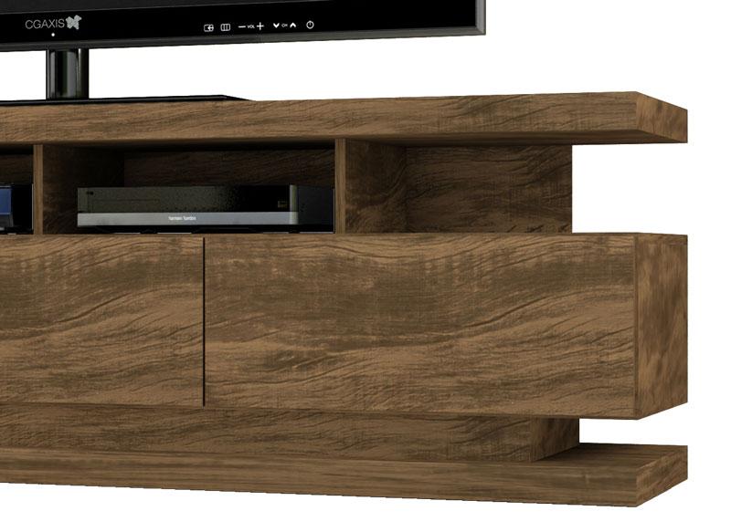 Como Fazer Adesivo Impresso De Unha ~ Rack para Tv Vivare Gold Wood Germai Moveis