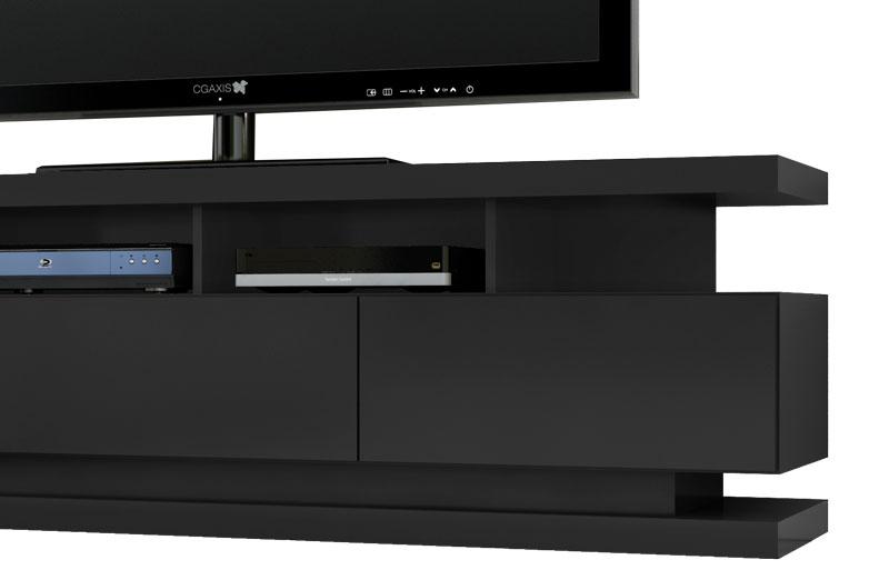 Rack para Tv Vivare Preto - Germai Móveis
