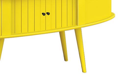 Rack Retrô 1.3 Jazz Amarelo - Edn Móveis