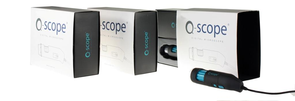 Q-scope Wi-Fi/USB 1.3mp com polarização