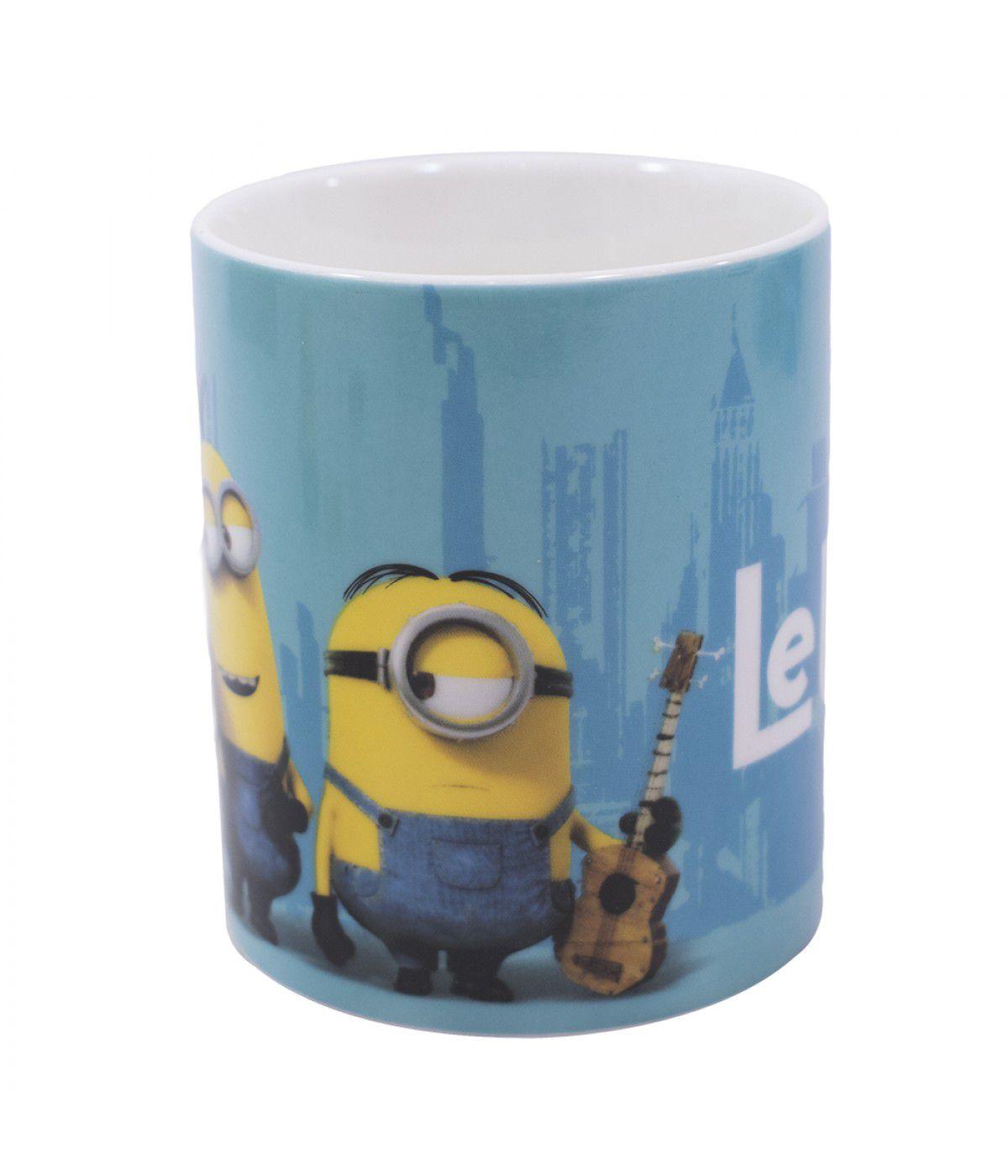 Caneca Porcelana Le Buddies Azul 340ml - Minions | Meu Malvado Favorito