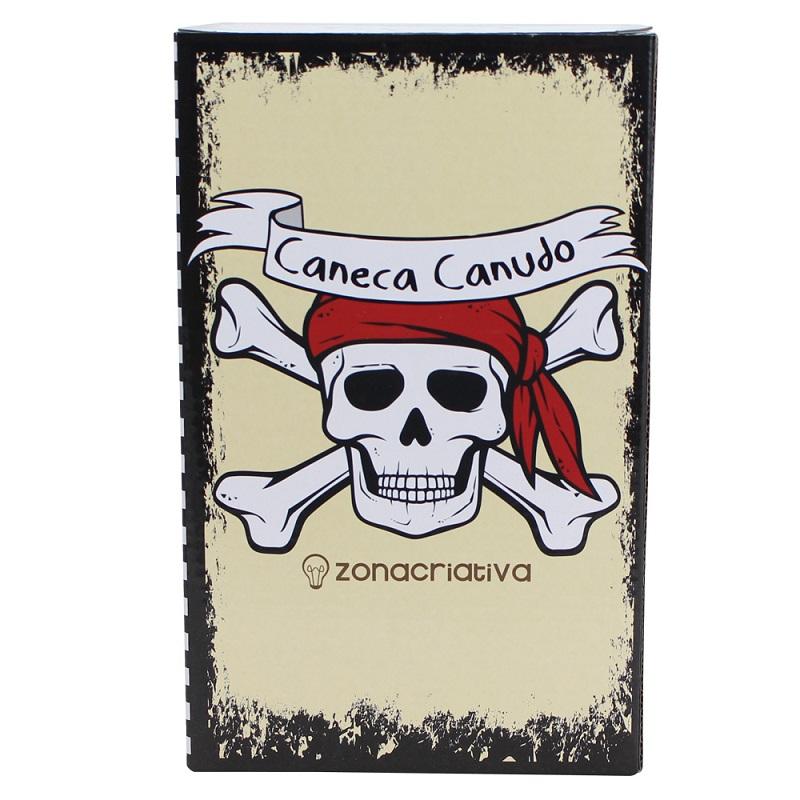 CANECA POTE CAVEIRA PIRATA