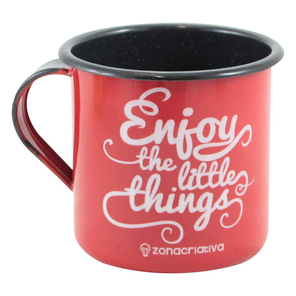 CANECA RETRÔ ENJOY THE LITTLE THINGS