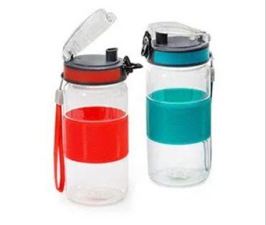 Garrafa De Plástico Com Trava 500 Ml - 19,0 X 7,0 Cm