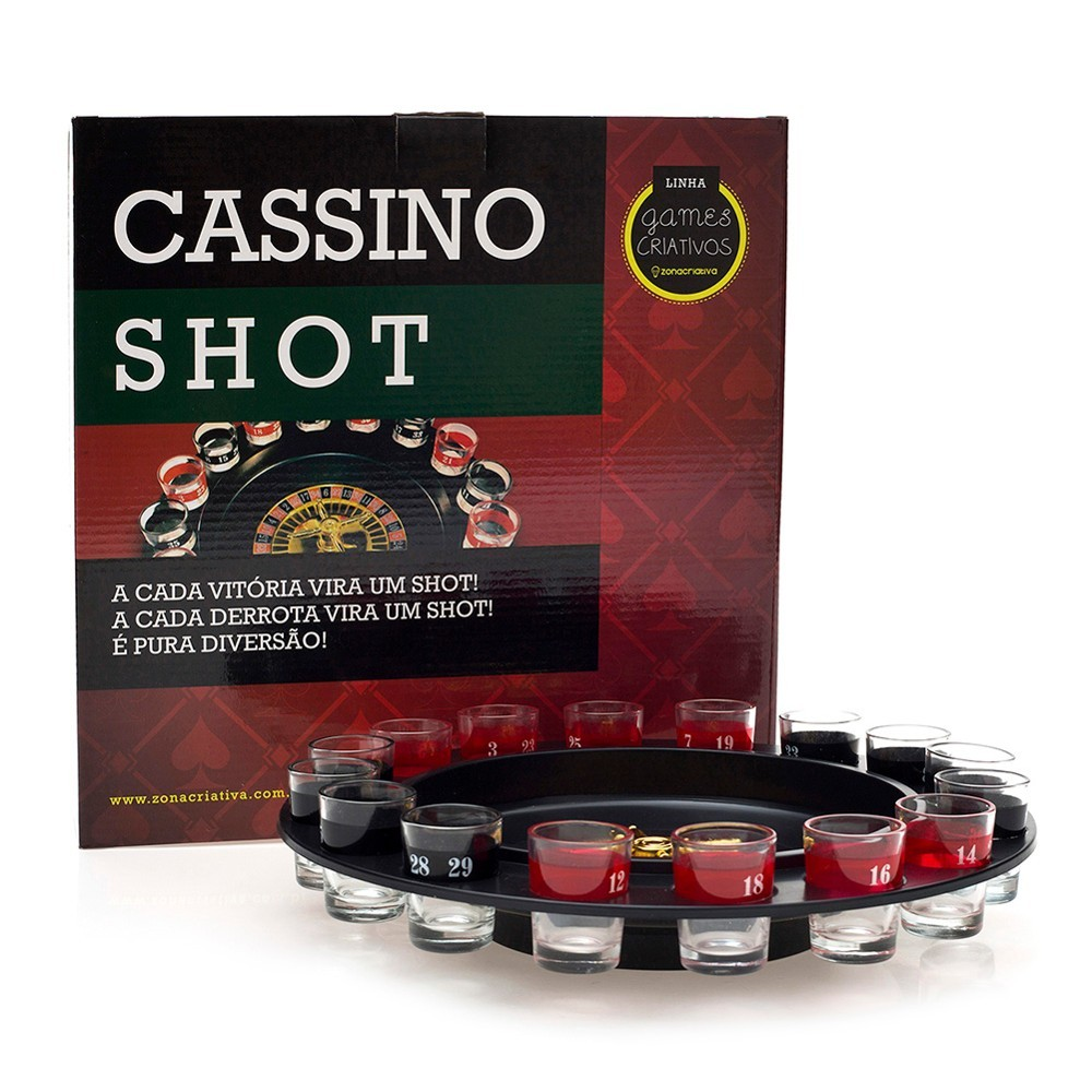 JOGO ROLETA CASSINO COM 16 COPOS SHOT