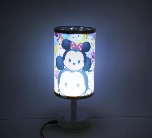 Luminária Infantil Abajur Mickey & Minnie Tsum Tsum - Disney