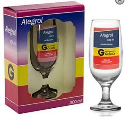 Taça Floripa Alegrol + Caixa Presente