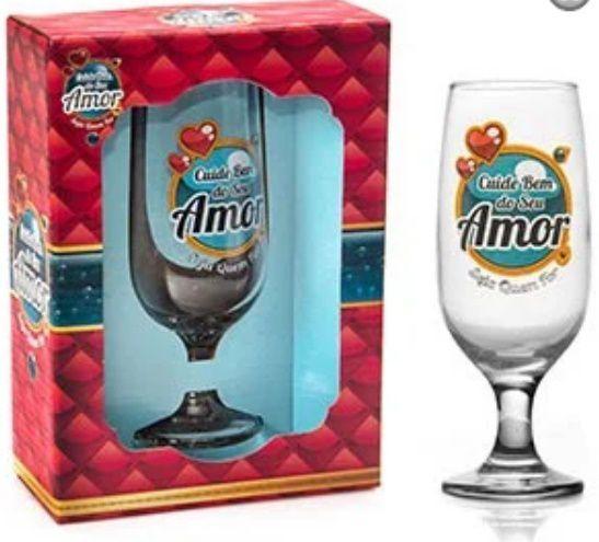 Taça Floripa Cuide Bem do seu Amor + Caixa Presente