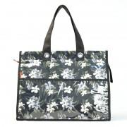 Bolsa Térmica Lavanda | floral preta