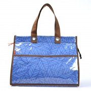 Bolsa Térmica Lavanda | folhas azuis