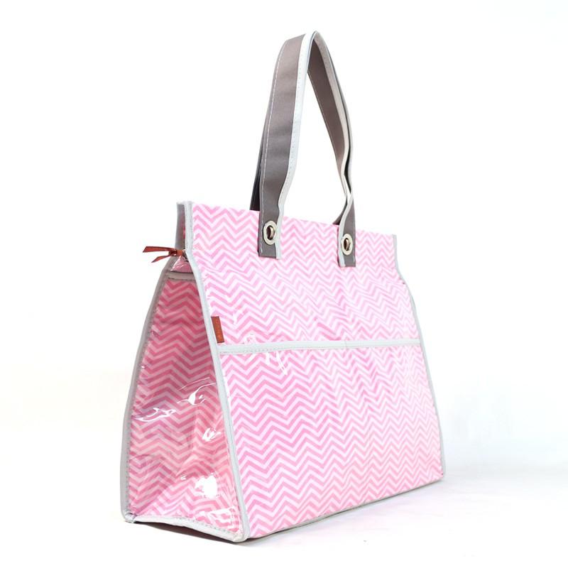 Bolsa Térmica Lavanda | chevron rosa
