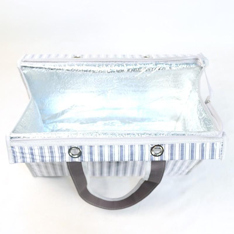 Bolsa Térmica Lavanda | listras azuis