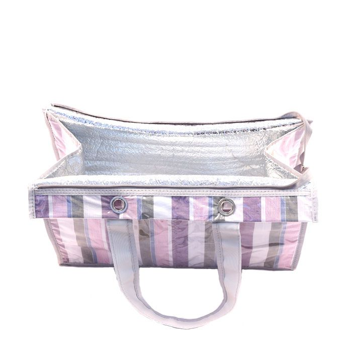Bolsa Térmica Lavanda | listras roxas