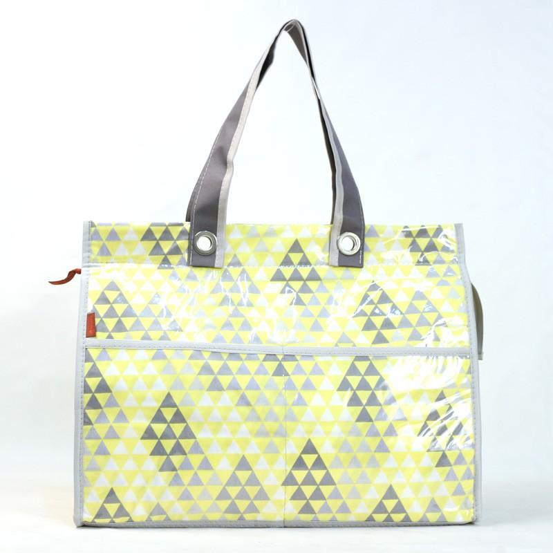 Bolsa Térmica Lavanda   triângulos amarelos