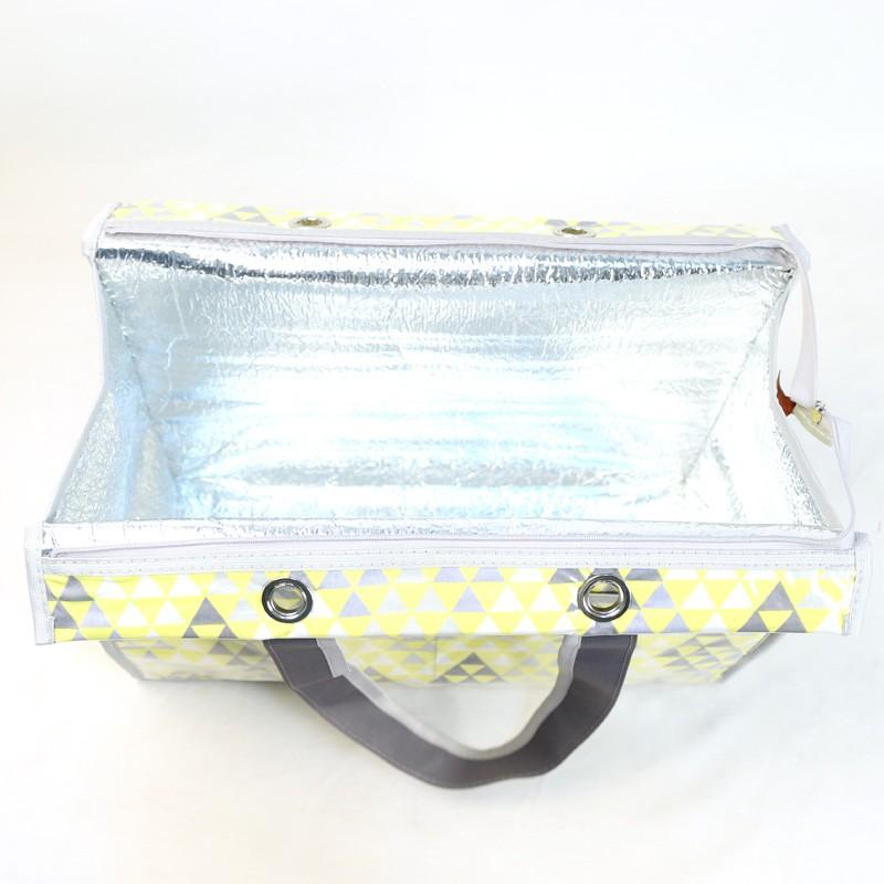 Bolsa Térmica Lavanda | triângulos amarelos