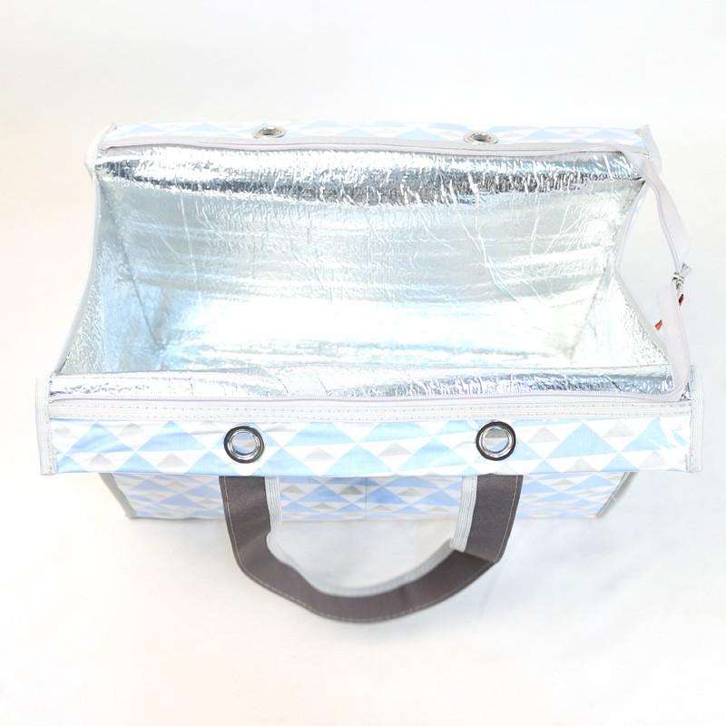 Bolsa Térmica Lavanda | triângulos azuis