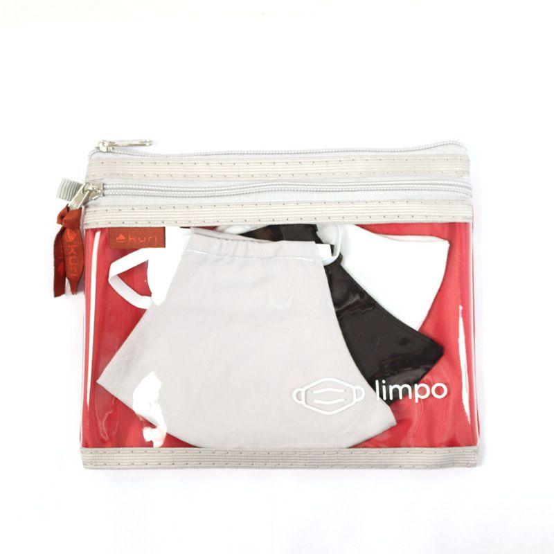 Necessaire Plastificada para Máscaras limpas e usadas | Kona