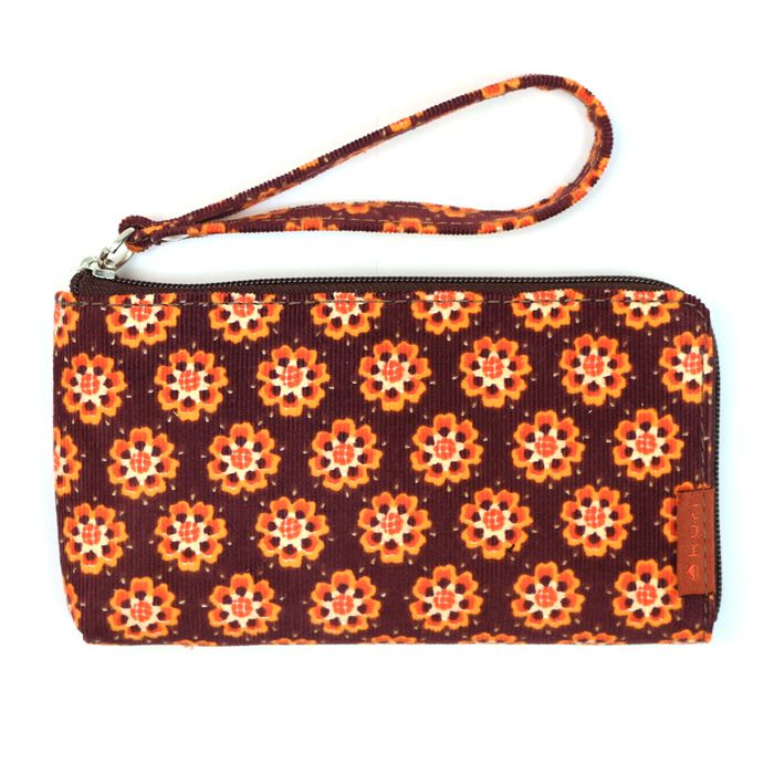 porta-celular MOBS | floral cotelê laranja