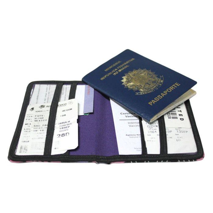 porta-passaporte DAN | floral verde